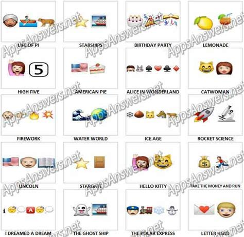 emoji rebus film antwoorden emoji answers and cheats pictures to pin on pinterest