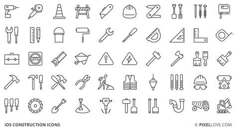symbole cadenas iphone 6 50 free construction icons freebie jar