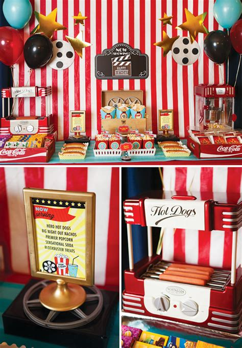 themed party movies lights camera birthday a hollywood movie party