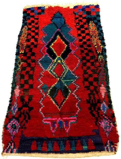 Berber Rug Moroccan Berber Rug Boucherouite 210 X 115 Cm Rag Rugs