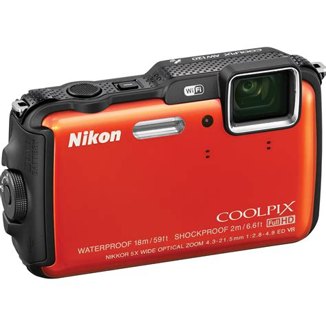 nikon coolpix waterproof nikon coolpix aw120 waterproof digital orange