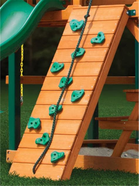 swing set rock wall gorilla playsets rock climbing wall