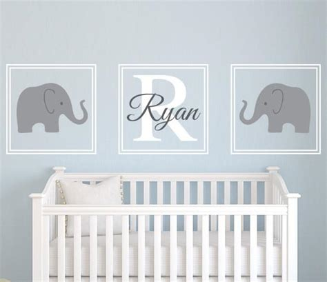 Name Wall Decals For Nursery Elephant Name Wall Decal Nursery Set Lovely Decals World
