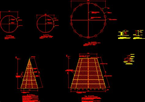 significant steel christmas tree structure in autocad