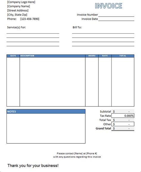 hourly service invoice template simple service invoice template invoice exle