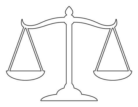 weighing scale template scales of justice pattern use the printable outline for
