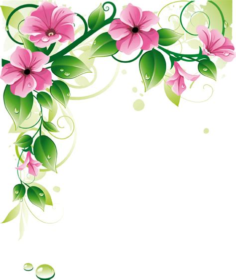 flower border template flower border background powerpoint backgrounds for free
