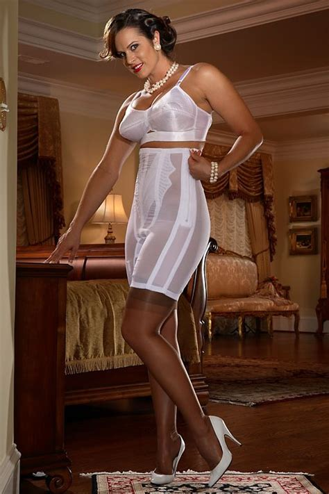 white high waist long leg panty girdle and white longline bra girdle white high waist long leg panty girdle white satin bullet
