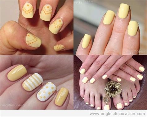 Deco Ongle Jaune by D 233 Coration Sur Ongles Nail Dessin Sur Ongles