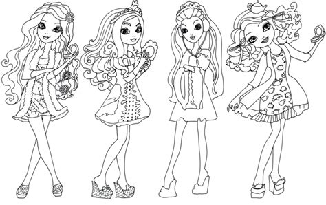 coloring page ever after high high and might color az dibujos para colorear