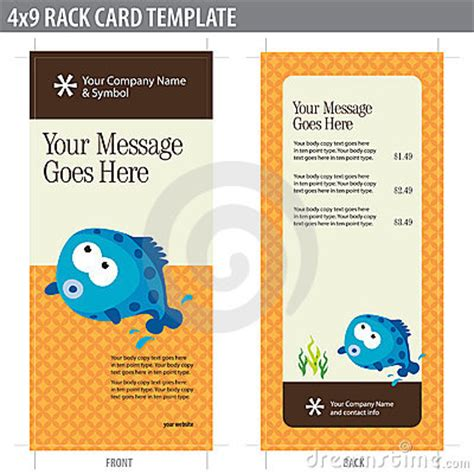 free 4x9 rack card template 4x9 rack card brochure template royalty free stock image