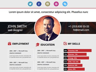 free adobe muse resume template by musefree dribbble
