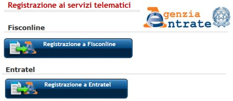codice sede entratel fisconline ed entratel come registrarsi pmi it