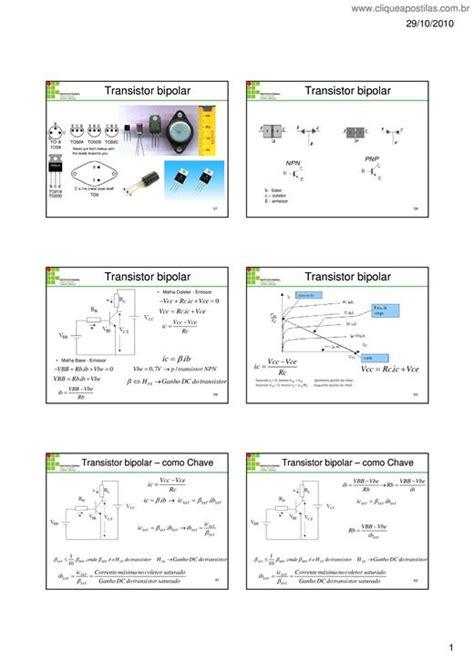 transistor bipolar eletronica clique apostilas transistor bipolar