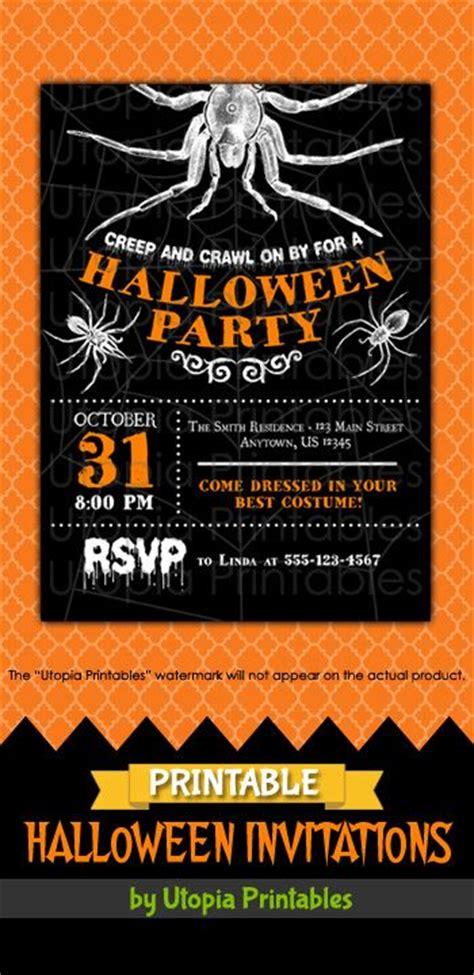 printable birthday invitations halloween theme 1000 images about printable halloween invitations on