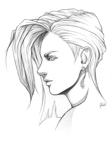 line art portrait tutorial portrait ii lineart by amberdust on deviantart
