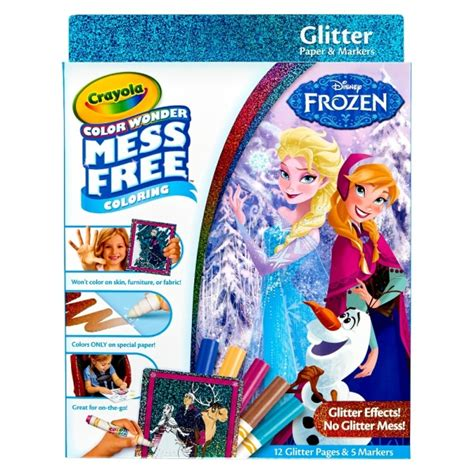 frozen coloring pages crayola crayola color glitter coloring kit disney frozen