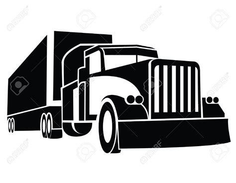 semi truck clip semi truck clipart black and white cliparts