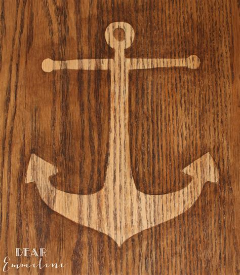 pattern for wood anchor anchors aweigh end table