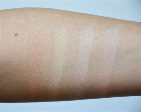 Hourglass Ambient Lighting Powder Swatches by Hourglass Ambient Strobe Lighting Powders Makeup Sessions