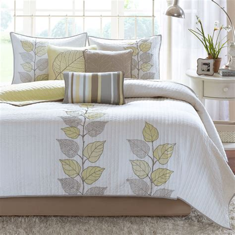 coverlet bedding sets caelie pale yellow 6 pc coverlet bed set by madison park