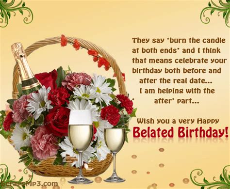 Delayed Happy Birthday Wishes Belated Birthday Wishes Images Google Search Birthday