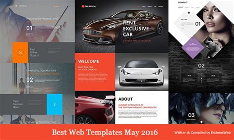 Best Website Templates May 2016 Entheos Best Web Templates