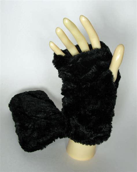 7 Fashionable And Functional Gloves by Fingerless Gloves In Desert Sand Black Faux Fur