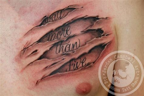flesh tattoos ripped skin by cbell tattoos