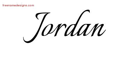 jordan name tattoos calligraphic name designs free