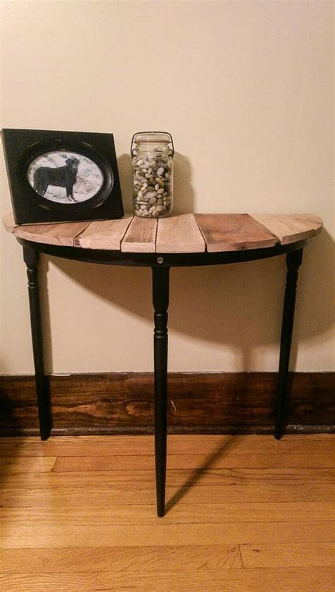 half circle end table end tables designs half circle entryway stand or
