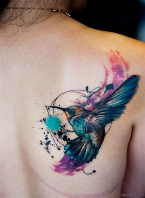 unique watercolor tattoo ideas 62 unique hummingbird for back