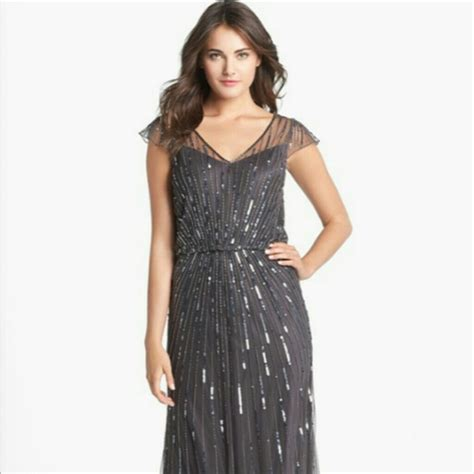 beaded mesh blouson gown 87 jkara dresses skirts jkara beaded mesh blouson