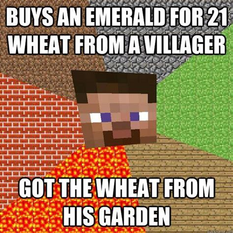 Meme Minecraft - buying an emerald minecraft memes minecrafters