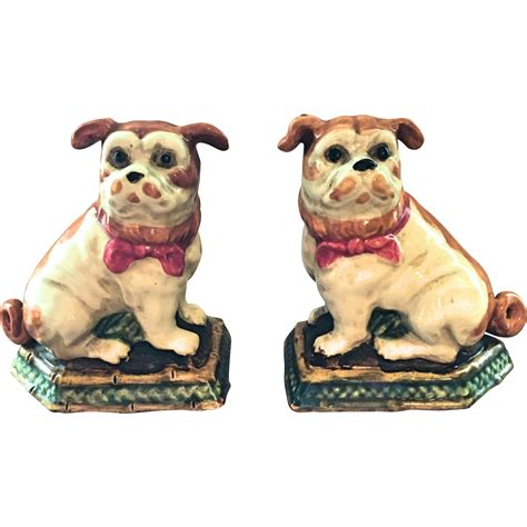 pug collectables staffordshire like pug figurines from ubiquities on ruby