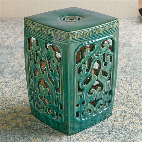 green garden stool jade green garden stool gump s