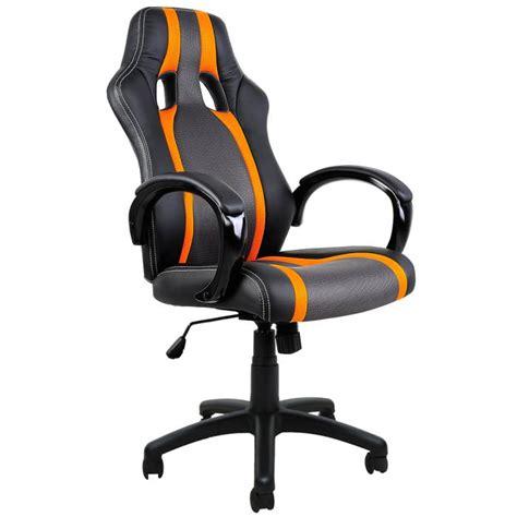 fauteuil baquet de bureau chaise bureau sport fauteuil noir gris orange achat