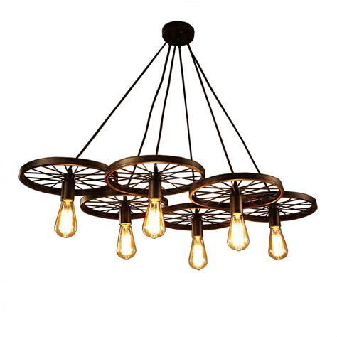 Chandelier Edison Bulbs Warehouse Of Nathaniel 6 Light Black Edison Chandelier With Bulbs Ld40896 The Home Depot