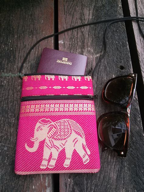 Fy Sling Roll Bag Tribal Pink pink unique elephant print sling purse cell phone bag cases fabric shoulder bag cotton boho