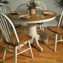 Antique Oak Dining Room Table by Antique White And Oak Round Dining Table Dining Tables