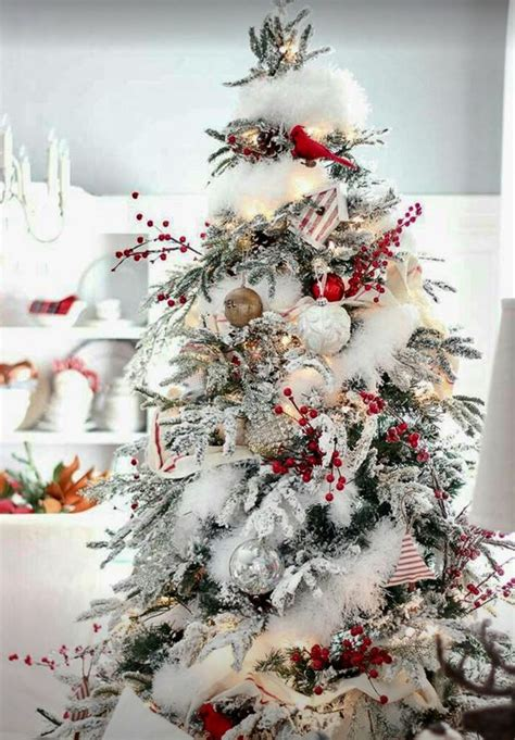 decorating christmas trees with berries best 25 flocked trees ideas on white trees snowy