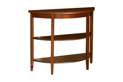 cherry demilune console table shelburne cherry demilune console table powell 998 225
