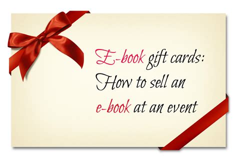 Sell E Gift Card - e book gift cards how to sell an e book at an event build book buzz