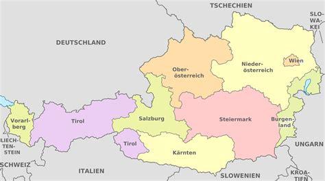 wien karte nachbarl 228 nder 214 sterreich karte vienna - Almhütten In österreich