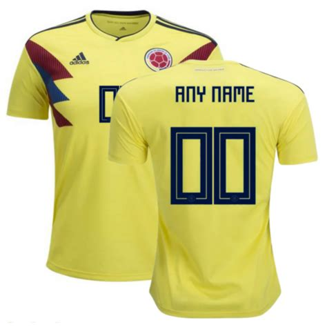 Jersey Kolombia 2018 World Cup 2018 colombia 2018 world cup home personalized shirt soccer jersey dosoccerjersey shop