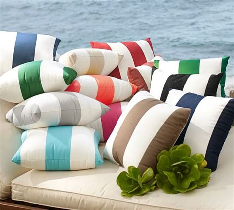 Pottery Barn Outdoor Pillow by Sunbrella 174 Awning Stripe Indoor Outdoor Pillow Pottery Barn