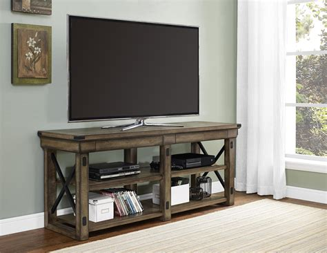 Oak Kitchen Carts And Islands by Ameriwood Furniture Wildwood Wood Veneer Tv Stand For