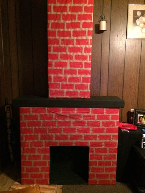 How To Make A Paper Fireplace For - diy fireplace cardboard fireplace designs