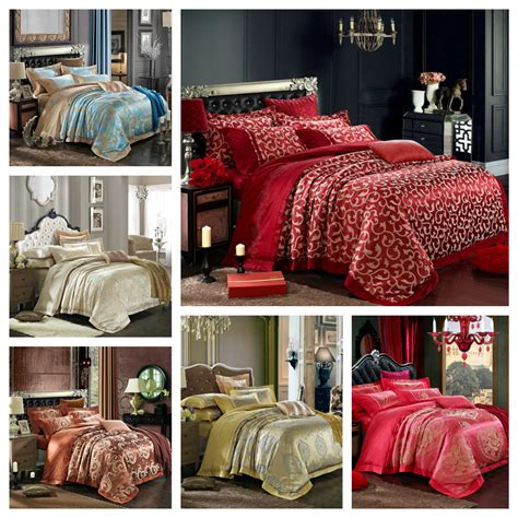 red damask comforter set aliexpress com buy 4pcs set luxury damask silk bedding
