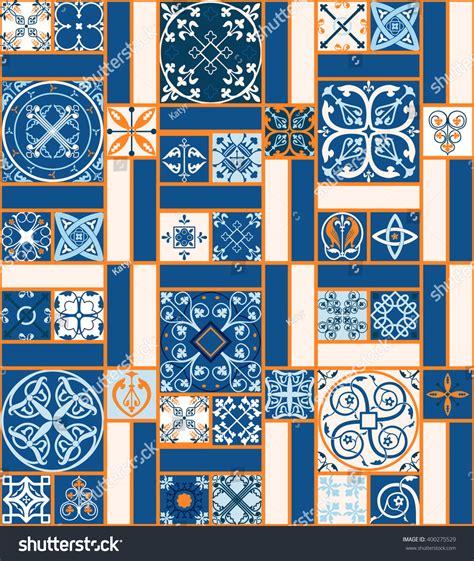 vector tiles moroccan tiles seamless pattern stock vector